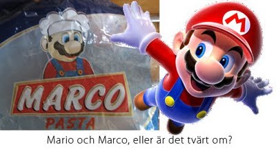 Marco pasta och Nintendos Mario