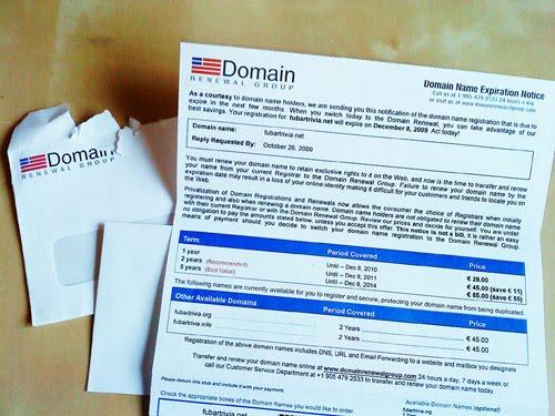Varning för Domain renewal group