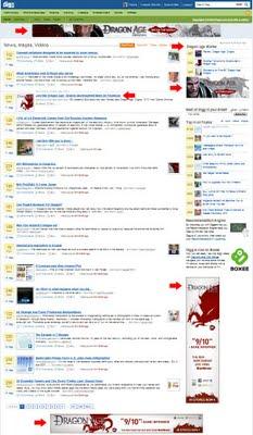 Dragonage spam på Digg