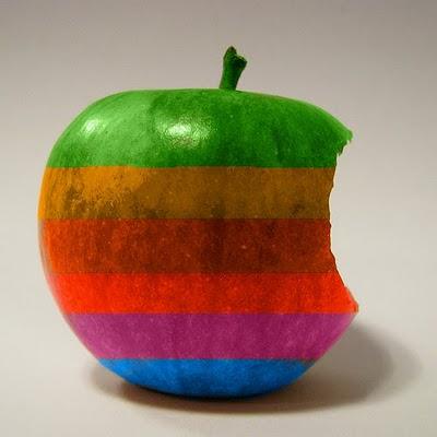 Apple retro logo på äpple