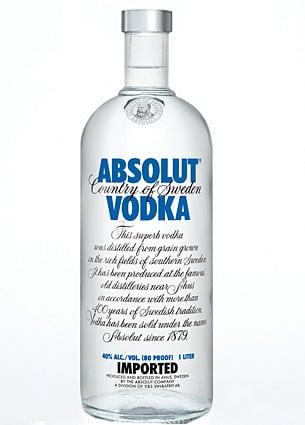 Absolut Vodka-flaska