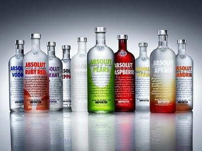 Absolut vodka:s olika smaker