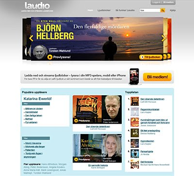 Laudio - laglig streaming av ljudböcker