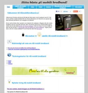 Screenshot av 4Gmobiltbredband.eu