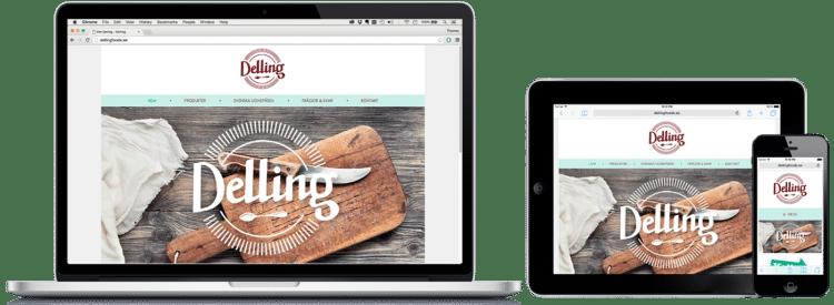 Delling WordPress hemsida