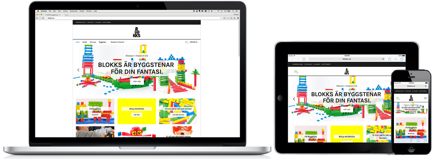 BLOKKS WordPress-nätbutik