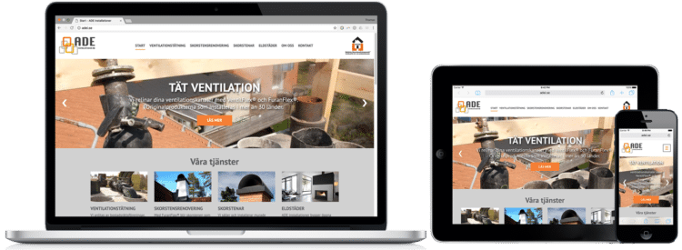 ADE Installationer WordPress-hemsida