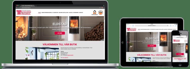 Skorstensfolket i Östergötland WordPress-hemsida