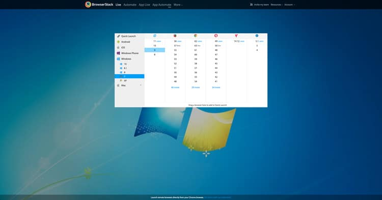 Browserstack screenshot