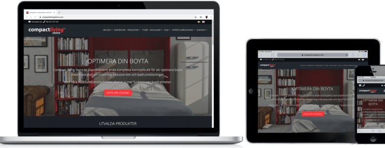 Compact Living Store WooCommerce-nätbutik
