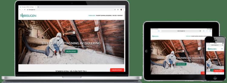 Torrsugen WordPress-hemsida