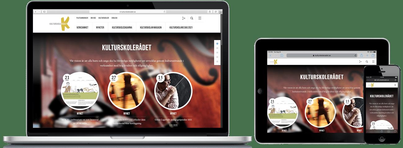 Kulturskolerådet WordPress-hemsida